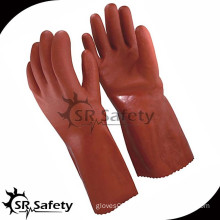 SRSAFETY Orange pvc chemical gloves,working gloves with pvc coated china supplier,best selling industry gloves
