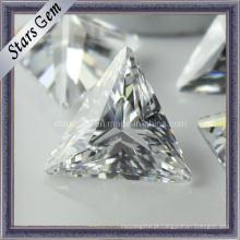 Bling Bling Brilhante Brilhante Branco Tringle Forma Sintético Diamante Cubic Zirconia para Jóias
