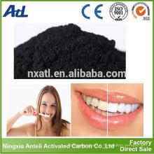 Poudre de blanchiment de dents de carbone activées organiques de blanchisseur de dents organiques