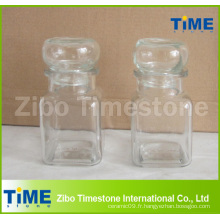 Poubelle ronde en verre de petite taille de 150 ml avec couvercle étanche en verre