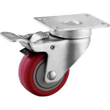 Medium Duty 3 Zoll PU Räder mit Bremsen