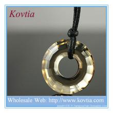 Bijouterie de mode grand pendentif en cristal pendentif prix