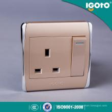 Prise de courant britannique standard BS 1gang 13A de gamme H