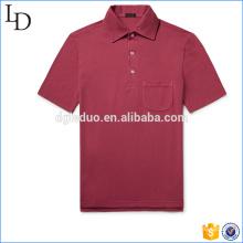 Seitenschlitze Angepasste Polo-Shirt Großhandel Spandex heißer Verkauf für Männer