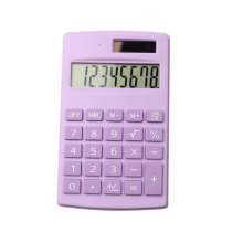 Dual Power Basic 8 Digit Pocket Calculator