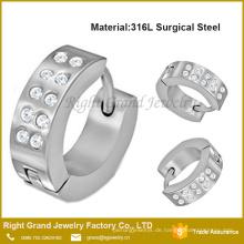 2017 Mode Schöne Design Hoop Kristall Pflastern Einstellung Ohrringe Mode Großhandel Günstige Einzigartige Made In China Neue Design Ohrring