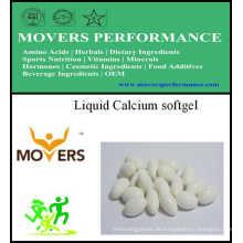 Liquid Calcium Softgel / Gemüse Softgel / Keine Konservierungsstoffe