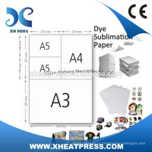A4 Tamanho Fast Dry Sublimation Transfer Paper