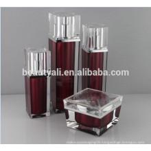 30ml 50ml Luxury Square Acrylic Airless Bottle PMMA Airless Bottle