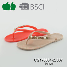 Ladies Cheap Flat Summer Pvc Flip Flop 2017