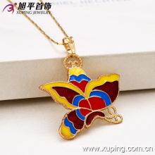 32024-Xuping disfraz de joyería femenina colgante de mariposa de colores