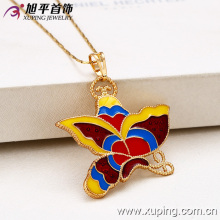 32024-Xuping Female jewelry costume colored butterfly pendant