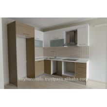 Gabinete de cozinha com preço barato, cabine lacada e armário de cozinha