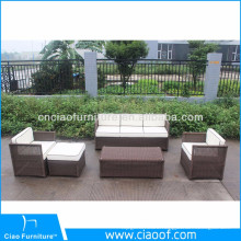 Factory Bottom Price Brown Rattan Garden Furniture Sets