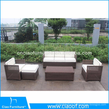 Factory Bottom Price Brown Rattan Garden Furniture Sets