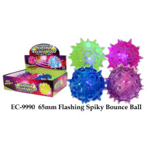 Funny 65mm Flashing Spiky Bounce Ball Toy