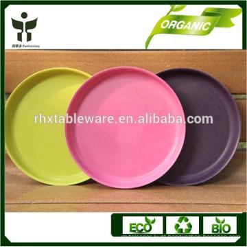 Eco-amigável orgânica característica natural planta fibra tipo dinnerware conjunto