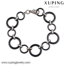 74462-xuping fashion rhodium color black fancy funky bracelets for girls