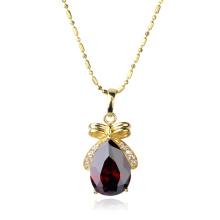Xuping Fashion Gold-Plated Jewelry Necklace colgante con corazón diseño Crystal Zircon 30915