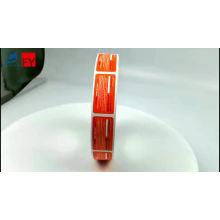 Custom waterproof tamper proof eggshell sticker