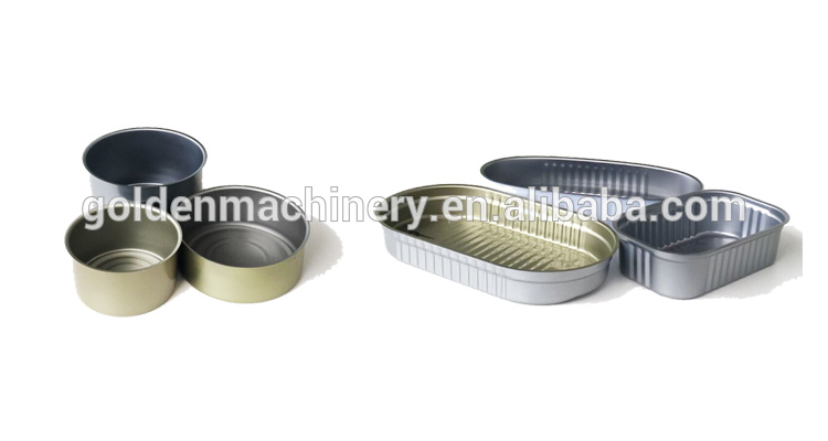 tuna oval aluminum tin can for food canning fish box making machine production line