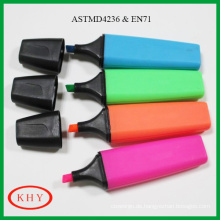 OEM product non-toxic rainbow colors mini scented highlighter pen