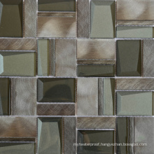 Antique Style Commercial Use Glass Mix Metal Mosaic Tile