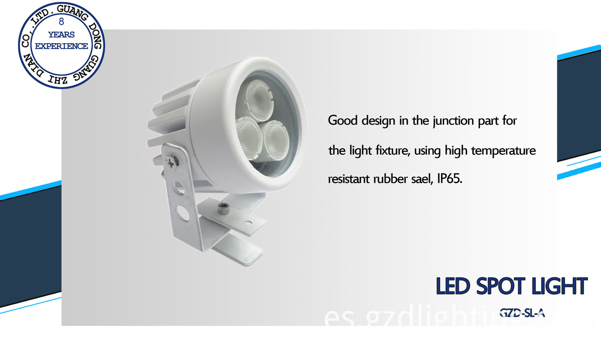 waterproof led spot light detail