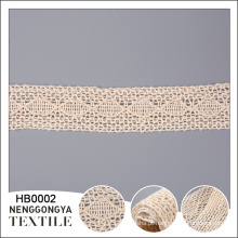 Chegada nova Diferentes tipos de guarnição do laço de algodão macio vestuário