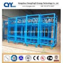 Offshore-Sauerstoff-Stickstoff-Gas-Zylinder-Rack mit ASME ISO