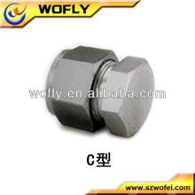 Tampa de extremidade de tubo de alumínio de aço inoxidável