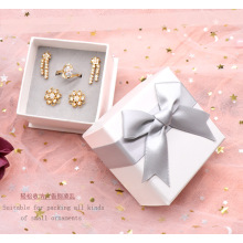 White Jewelry Set Box Cardboard Paper Ring Necklace Earrings Custom Jewelry Box for Jewelry