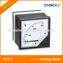 Voltímetro de panel analógico redondo de 6C2-V serie