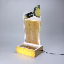 Apex LED acrylic water bottle beer display rack stands