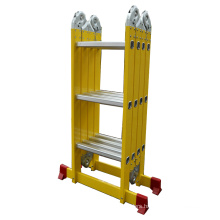 Aluminium multi purpose ladder 8 foot ladder 4*3 with small hinges