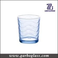 Coupe d'eau en verre bleu clair