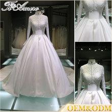 Amor atractivo del amor para siempre cordón 3 4 vestido de boda de la manga