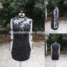 СЗ-471 нежный аппликация длинные рукава короткое платье вечернее платье