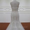 покинуть плеча Милая Crystal бисером шампанское Русалка свадебное платье