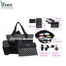 Moda impresso saco de fraldas de pontos definido (YSDB00-004)