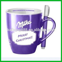Mini Ceramic Pen with Clip for Cup Set