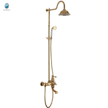 КВт-05J ванная комната латунь ванна душ комплект с дождеванием, настенный тропический душ смеситель с ручным душем, ванная комната с душем
