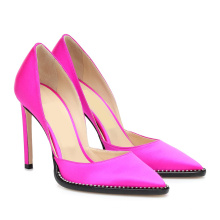 Ladies Designer Shoes Leather Pumps Pink Pointed Toe Womens Heels Stilettos High Heels Sandal Sexy Summer Shoes 2020