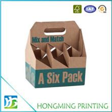 Custom Printing Juice Paper Box Packaging Six Pack Beer Box
