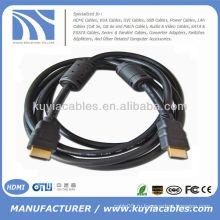 Новый 19pin hdmi для кабеля hdmi 1.3v с 2 ферритовыми 1.5meter черными