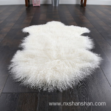 Genuine Knitted Mongolian Lamb Fur Wholesale Carpet