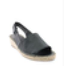 Women wedge heel sandal shoes strappy espadrille jute sole