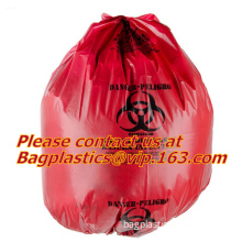 Biohazard Plastic Bags, Biohazard Bags, Red Biohazard Waste Bags, Medical waste Bag, infectious bags