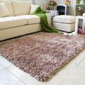 Brown Elastische Seide Teppich Tür Matte Wohnzimmer Teppich