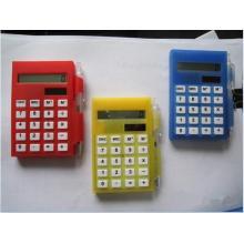Calculador solar do bloco de notas com caneta
